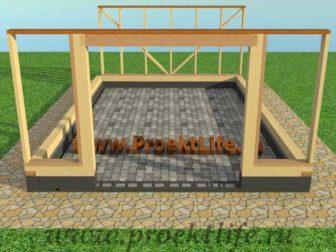 Каркасный гараж, гараж по каркасной технологии, гараж - Гараж по каркасной технологии своими руками -  стена 1 336x252