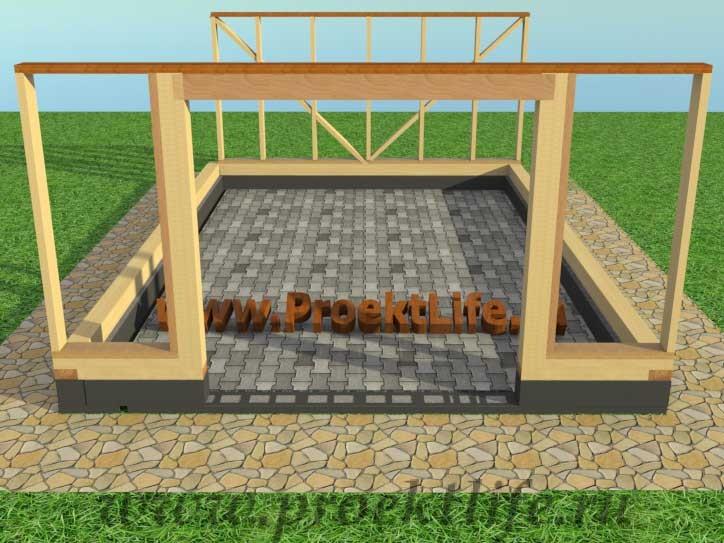 Поэтапное строительство гаража своими руками 5
