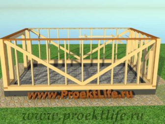 Каркасный гараж, гараж по каркасной технологии, гараж - Гараж по каркасной технологии своими руками -  стена 3 336x252