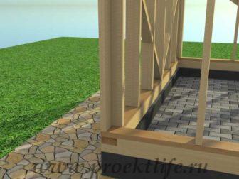 Каркасный гараж, гараж по каркасной технологии, гараж - Гараж по каркасной технологии своими руками -  стена 4 336x252