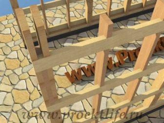 Каркасный гараж своими руками стойки, столбы, опорные столбы
