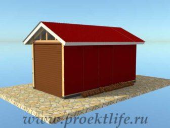 Каркасный гараж своими руками фасад