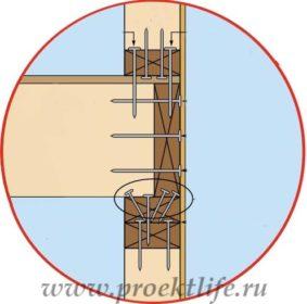 Каркасная баня с двускатной крышей крепление стен