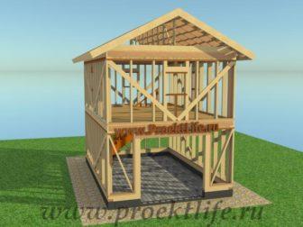 проект-двухэтажного-каркасного гаража