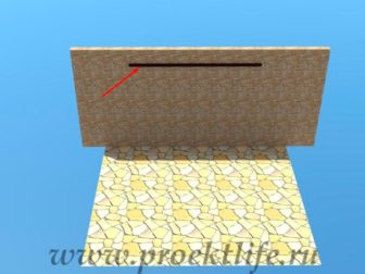 Навес с крышей из поликарбоната опорный брус
