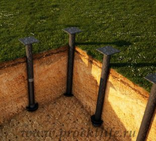 Фундамент, виды фундаментов - Виды фундаментов в деревянном домостроении -  фундамент 310x280