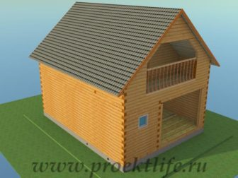 двухэтажный гараж своими руками, двухэтажный гараж - Двухэтажный гараж своими руками из бруса -  из бруса кровля 336x252