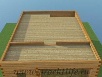 двухэтажный гараж своими руками, двухэтажный гараж - Двухэтажный гараж своими руками из бруса -  из бруса перекрытие второго этажа 3 336x252