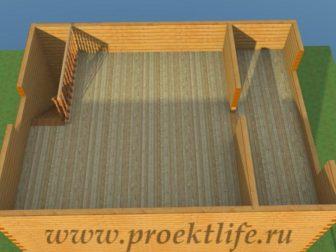 Двухэтажный гараж-из-бруса-стены-второго этажа
