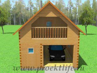 Как построить двухэтажный гараж из бруса