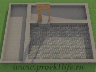 двухэтажный гараж своими руками, двухэтажный гараж - Двухэтажный гараж своими руками из бруса -  из бруса фундамент 336x252
