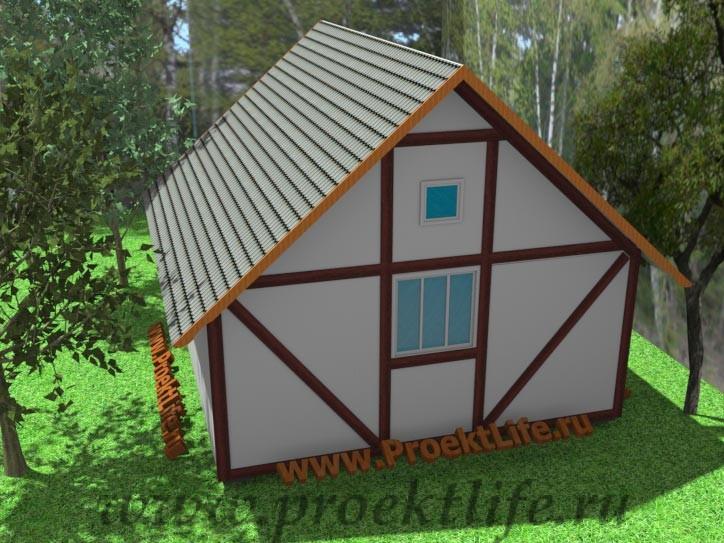 каркасный дом, дача, баня