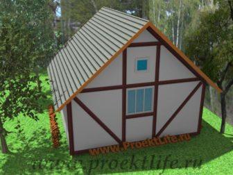 деревянный дом, дача, баня