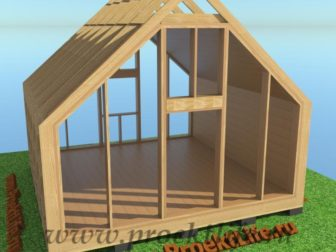 деревянный дом торцевые стены