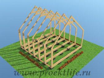 деревянный дом каркас стены