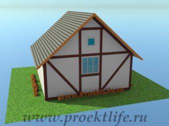 отделка фасада деревянного каркасного дома