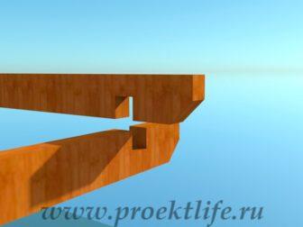 деревянный дачный домик-соединение досок