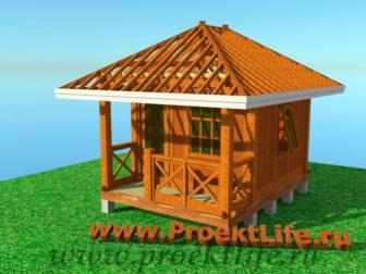 деревянный дачный домик своими руками