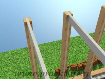 технология строительства каркасного дома лаги