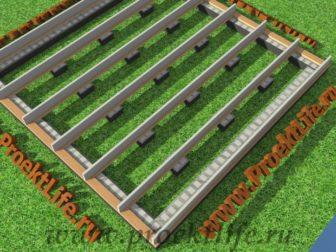 технология строительства каркасного дома - Технология строительства каркасного дома -  конструктор лаги 336x252