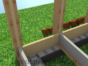 технология строительства каркасного дома нижние укосины