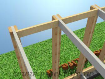 технология строительства каркасного дома укосины