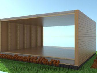 технология строительства каркасного дома потолок
