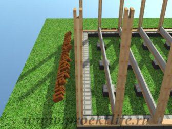 технология строительства каркасного дома - Технология строительства каркасного дома -  конструктор столбы 336x252