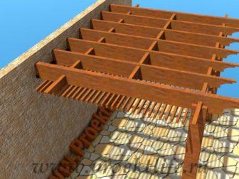 Навес с крышей из поликарбоната лаги