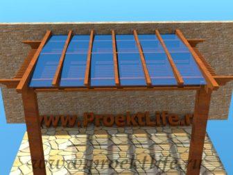 Навес с крышей из поликарбоната