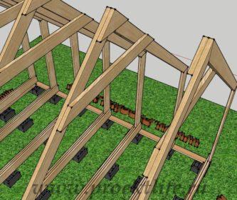 деревянный дом стропильная система