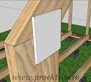 деревянный дом крепление стропилин