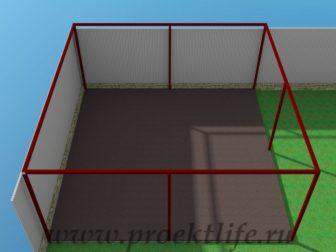 Навес-из-железа-бетонирование-пола