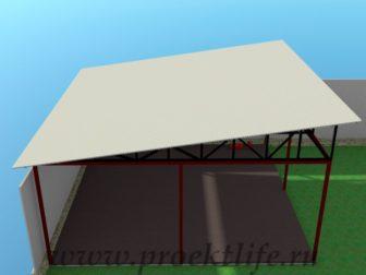 Навес-из-железа-крыша