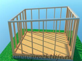 Каркасная баня банька-с-односкатной-крышей-16-1