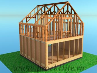 технология строительства каркасного дома мансарда