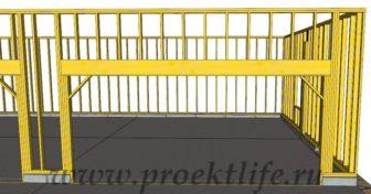 Каркасный гараж - Каркасный гараж на две машины фото -  гараж на две машины 7 336x176