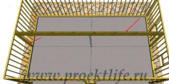 Каркасный гараж - Каркасный гараж на две машины фото -  гараж на две машины 9 336x168