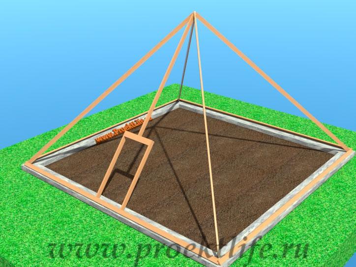 Как сделать пирамиду для теплицы 184