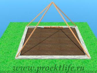 теплица-пирамида-каркас