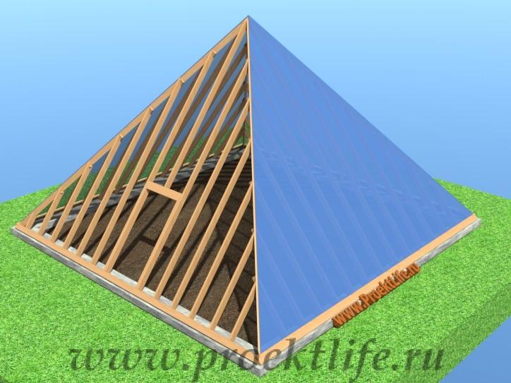 готовая к использованию теплица пирамида