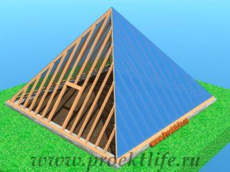теплица-пирамида поликарбонат