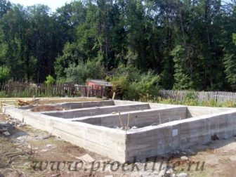 фотоотчёт, как построить каркасный дом, фундамент