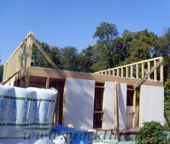 фото, как построить каркасный дом, стены мансарды