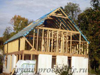 фото, как построить каркасный дом, перегородки