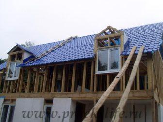 фото, как построить каркасный дом, мансардные окна