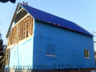 фото, как построить каркасный дом, кровля