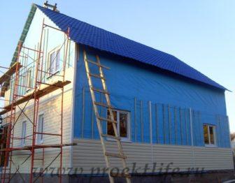 фото, как построить каркасный дом, отделка фасада виниловым сайдингом