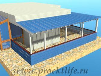угловая веранда - Угловая веранда своими руками - uglovaya veranda 10 336x252