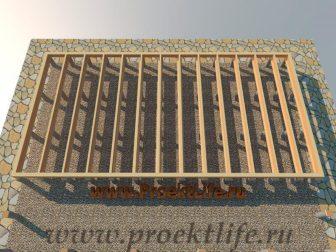 дачный домик - Дачный домик-пошаговая технология строительства -  нижняя обвязка 336x252